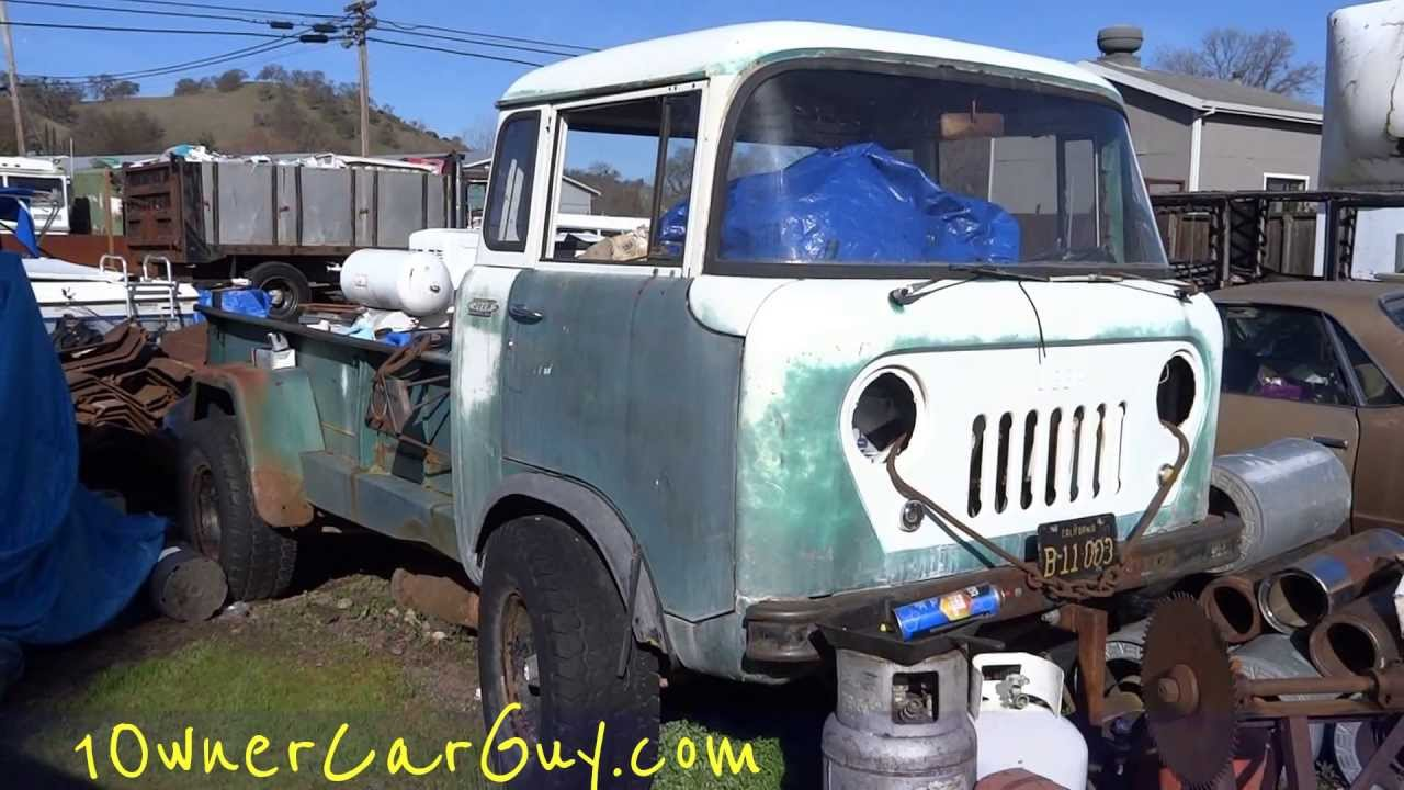 1959 Jeep FC-170 Forward Control 4x4 Truck FC-180 160 190 230 Tornado 6 Overhead Cam - YouTube