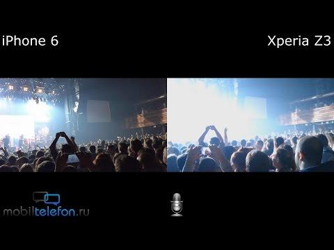 iPhone 6 vs Xperia Z3: сравнение видеокамер на концерте (camera comparison)