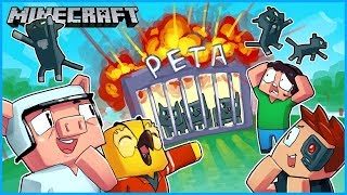 we sent nogla's cats to PETA and then I accidentally blew them up... Minecraft ep 17