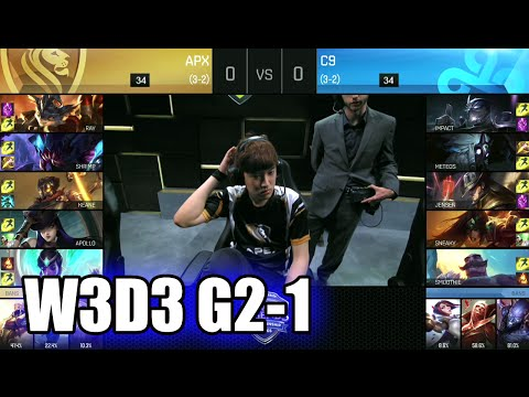 Apex Gaming vs Cloud 9 | Game 1 S6 NA LCS Summer 2016 Week 3 Day 3 | APX vs C9 G1 W3D3 1080p