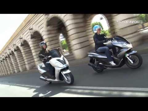 Duel Honda PCX 125 contre Peugeot Citystar 125