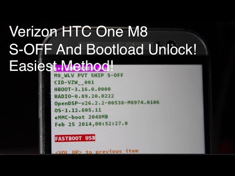 Verizon HTC One M8 S-Off and Bootloader Unlock [Easiest Method]