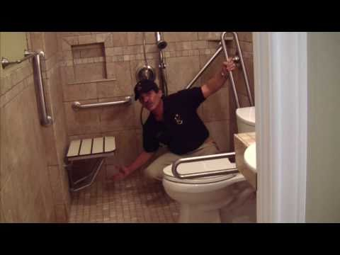 Handicap Shower Stall Manufacturer Introduces Reinforced Multi Piece Walls For Handicapped