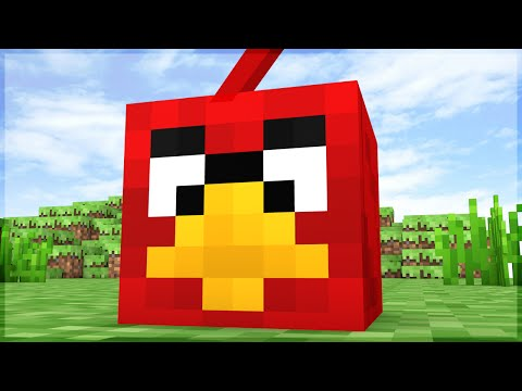 Minecraft: ANGRY BIRDS NO MINECRAFT!