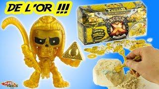 Tresor X Chasse au trésor en or véritable Figurines squelette Jouet unboxing