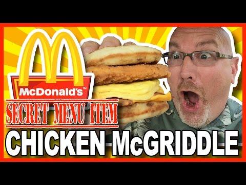 McDonald's ★ Secret Menu Item ★ Chicken McGriddle Review