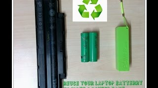 HOW TO MAKE A POWER BANK FROM USED LAPTOP BATTERY