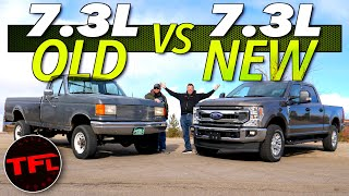 What's Your Favorite Ford 7.3L Truck? We Compare One of The Oldest 7.3L Ford Trucks to The Newest!