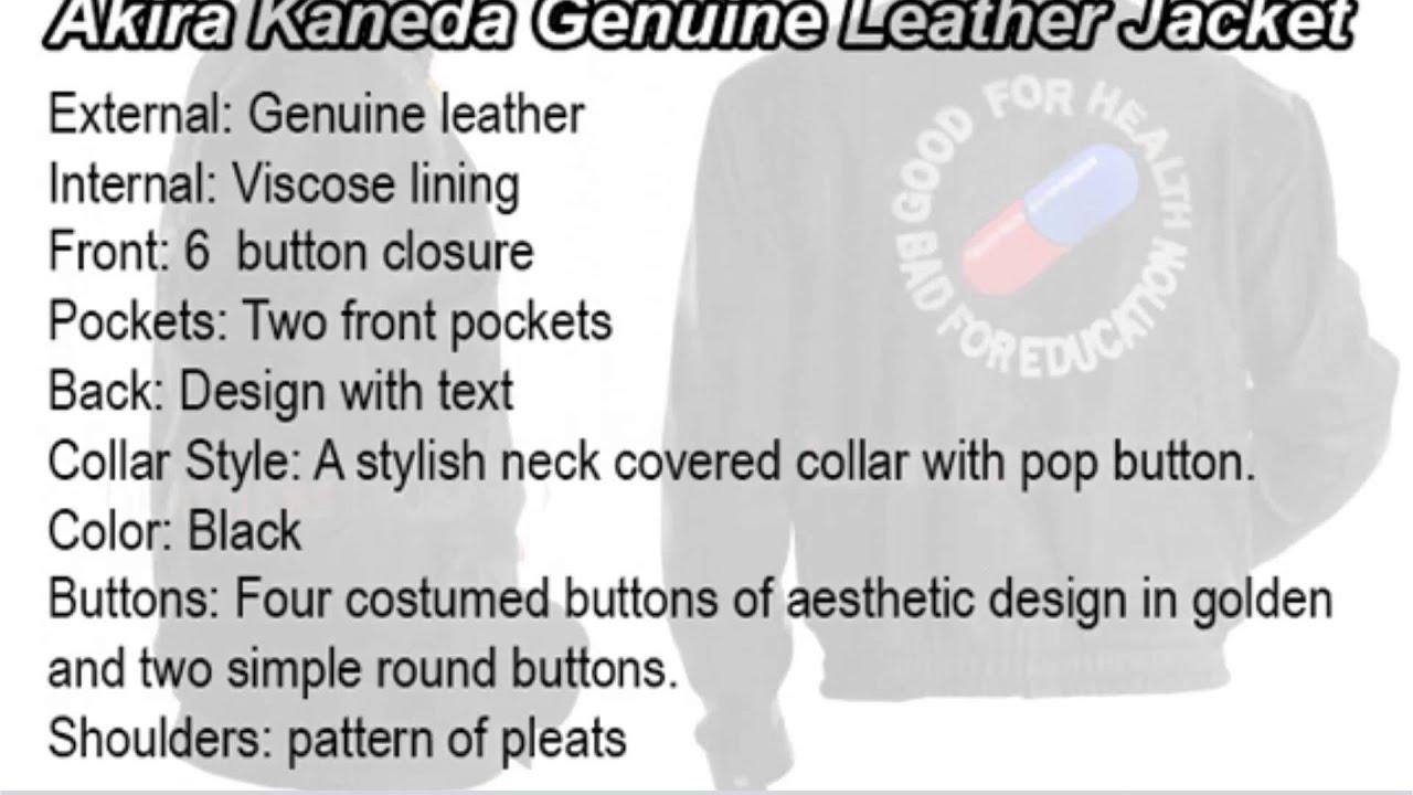 Akira Capsule Jacket Akira Kaneda Capsule Leather
