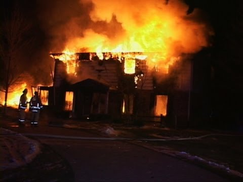 Morris Fire & Ambulance District-Morris,IL Natural Gas Explosion in Garage of Large 2 Story House with 2 Cars Inside. West Side of House Leveled,Extensive Fi...