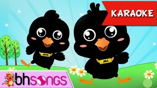 Two Little Blackbirds Sitting On A Hill Karaoke | Nursery Rhymes TV [Video 4K]]