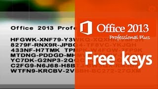 MS Office 2013 Working Product Keys [Office Professional Plus Activation]