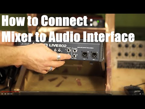 Connecting Mixer to Audio Interface