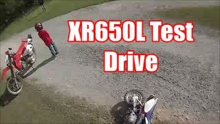 XR650L TEST DRIVE & Riding W/ Lil Epher (TTR50E)