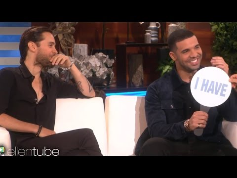 Drake & Jared Leto Play 'Never Have I Ever' On Ellen - Talk Hooking Up With Fans & Nude Selfies