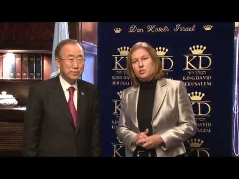 Livni to Ban: Oppose Abbas's Unilateral Moves