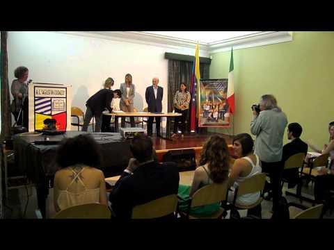 Cerimonia 64^ consegna diplomi maturità 2014 Colegio Agustin Codazzi Caracas Venezuela