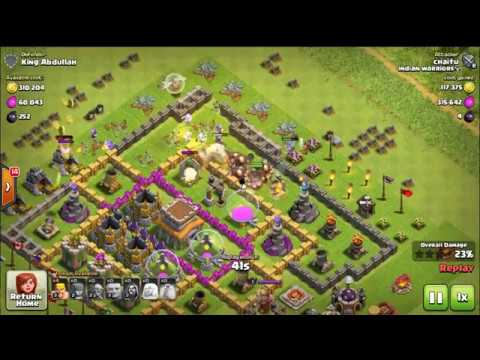 clash of clan townhall 8 strong base defence