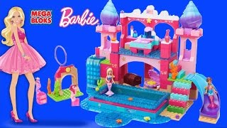 Mega Bloks Barbie Underwater castle with Barbie Mermaid Princess Dolls | TheChilhoodLife