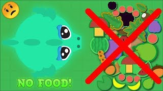 MOPE.IO NO FOOD CHALLENGE! Hardest Mope.io Challenge EVER! [Mopeio Funny Moments]