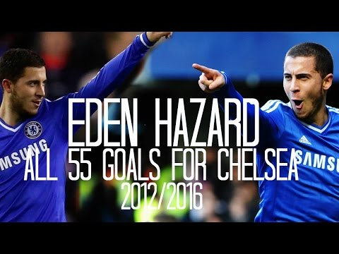 Eden Hazard All 55 Goals for Chelsea - 2011/2016 - English Commentary (Just Goals)