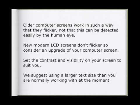 Northampton Opticians & Computer Screens Advice