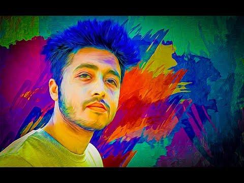 Colorful Portrait Digital Painting photoshop CC tutorial