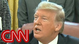 Trump gets testy with reporter over shutdown