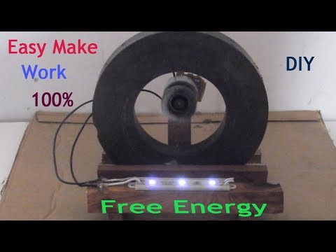 Free energy light bulbs work 100% - How to make free energy light bulb with magnets at home thumbnail