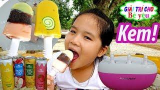 Đồ chơi  MÁY LÀM KEM TƯƠI MINI | ICE CREAM MACHINES CREATE FOR KID