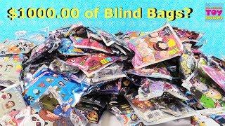 $1000 Blind Bag Figural Keyring Palooza Opening Disney Marvel Princess \u0026 More | PSToyReviews