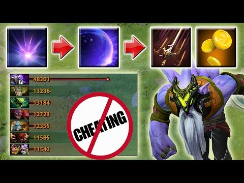 Unlimited Swashbuckle Farm with Alchemist Passive [Cheater Detected] Dota 2 Ability Draft