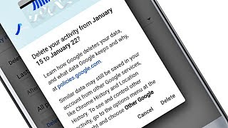 How to Delete past searches, browsing history, and other activity from your Google Account