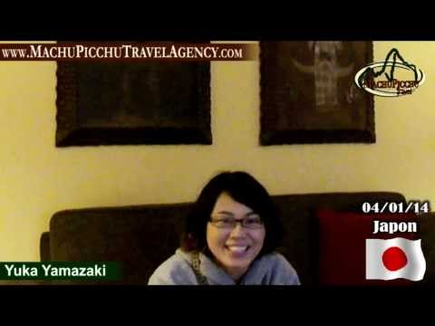 "Yuka Yamazaki - Japones tourist with Travel and Tourism agency ""Machu Picchu Travel"""