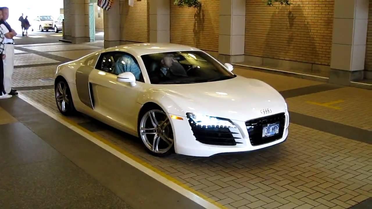 White Audi R8 - HD - YouTube