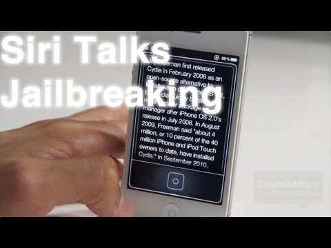 Siri Talks Jailbreaking