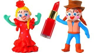 FUNNY KIDS  WEAR SPANISH COSTUMES  ❤  Play Doh Cartoons For Kids