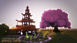 How to make a cool house in minecraft - Japanese House tutorial [TEMPLE] 29.98 MB