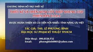 THIET KE VA TRIEN KHAI COT THEP KHUNG - CFD - 2018