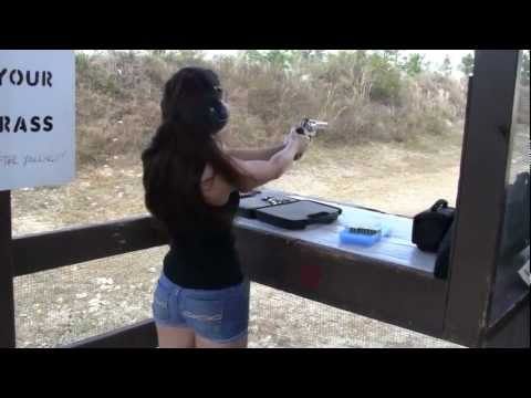 Girls Shooting .357 Magnum Revolver
