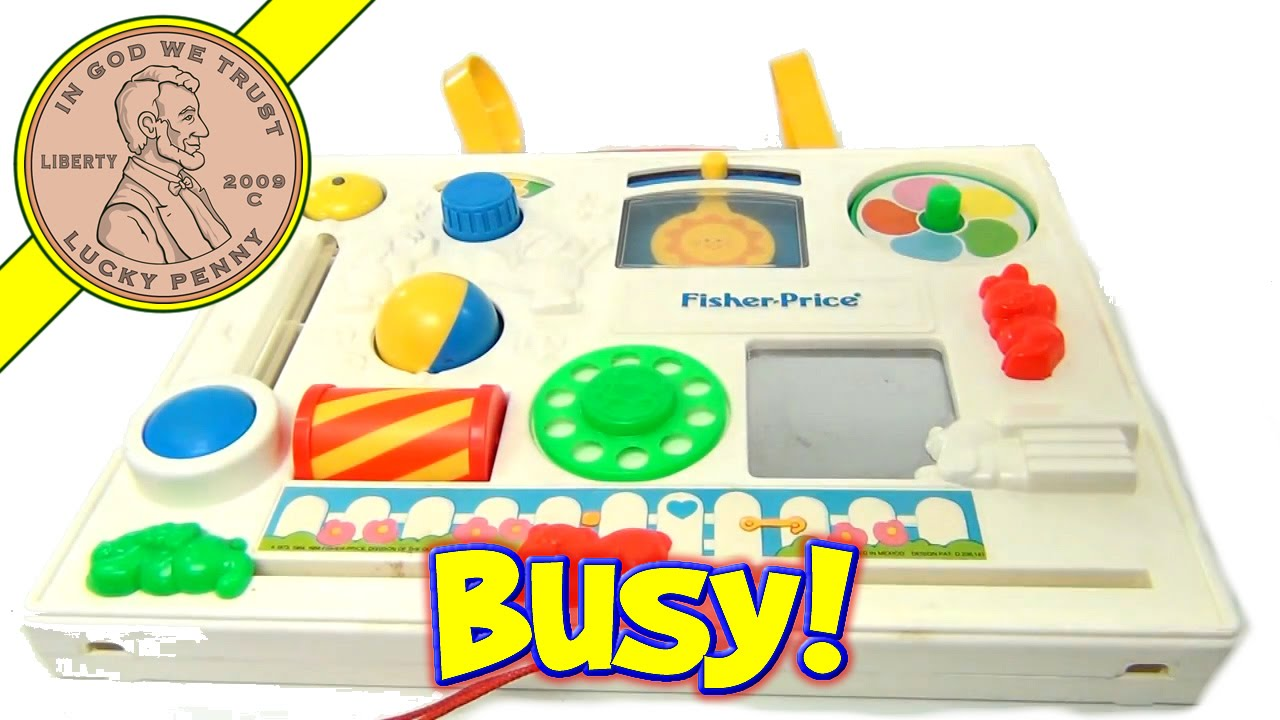 Fisher Price Busy Box Activity Baby Crib Play Center