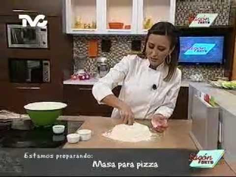 Receta para preparar Masa para Pizza