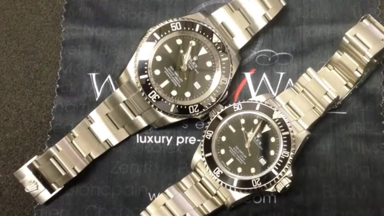 Rolex Sea Dweller 16600 vs Submariner Rolex Sea-dweller 16600 And