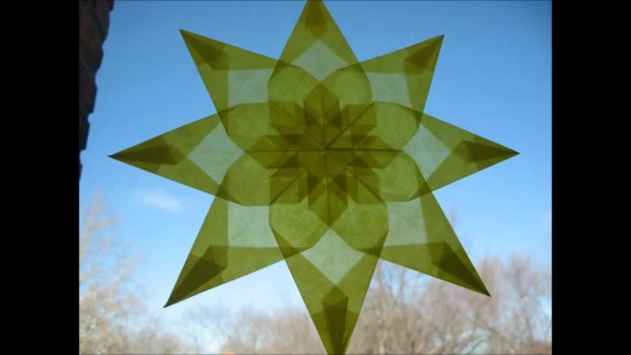 How To Waldorf Window Star Tutorial Version 1 Youtube