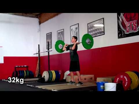Youth Clean & Jerk Training - Baseball Workout - Napa Personal Trainer Image 1