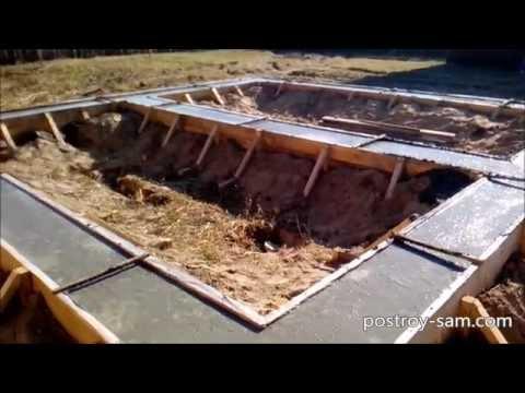 Плитный фундамент для бани 6х6