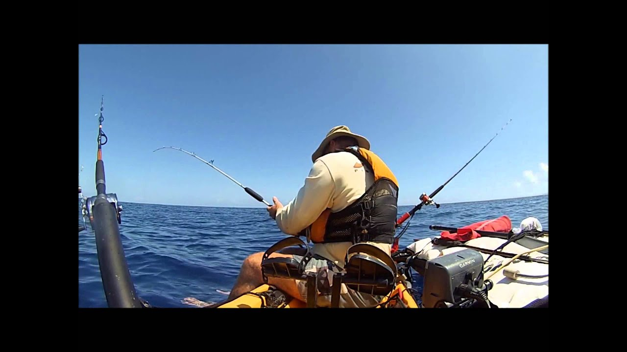 Hobie kayak fishing oahu hawaii youtube for Kayak fishing hawaii