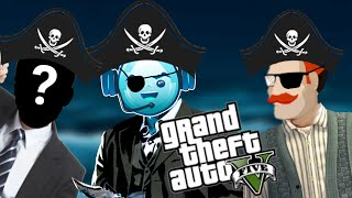 WE'RE NOW PIRATES - Grand Theft Auto V Funny Moments w/ Caleb & Mystery Man