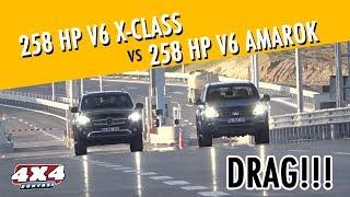 258 HP V6 X-CLASS VS 258 HP V6 AMAROK DRAG!!!
