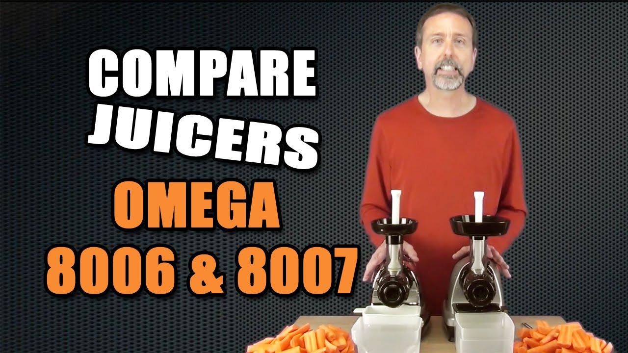 Omega Nutrition Center Masticating Juicer Model 8007 Silver